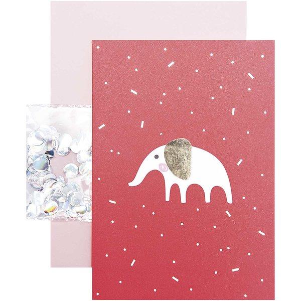 Paper Poetry Grußkartenset Hello Baby Elefant