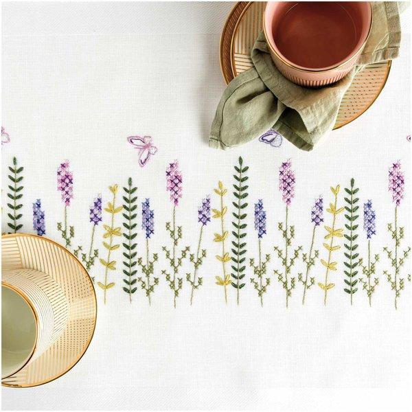 Rico Design Stickpackung Läufer Lavendelkranz 45x100cm