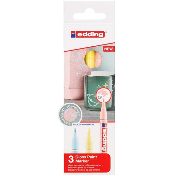 edding 751 Glanzlack-Marker Pastell 3er Set