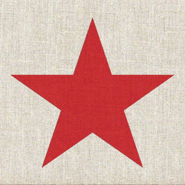 Ambiente Serviette Star linen red 33x33cm 20 Stück