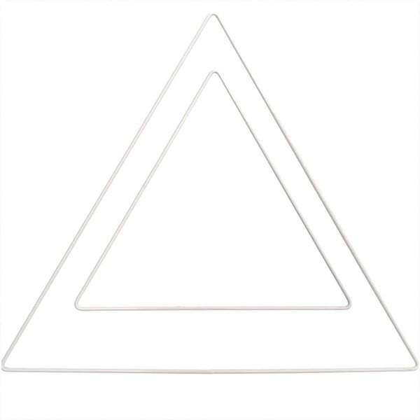 Rico Design Metallring Dreieck weiß