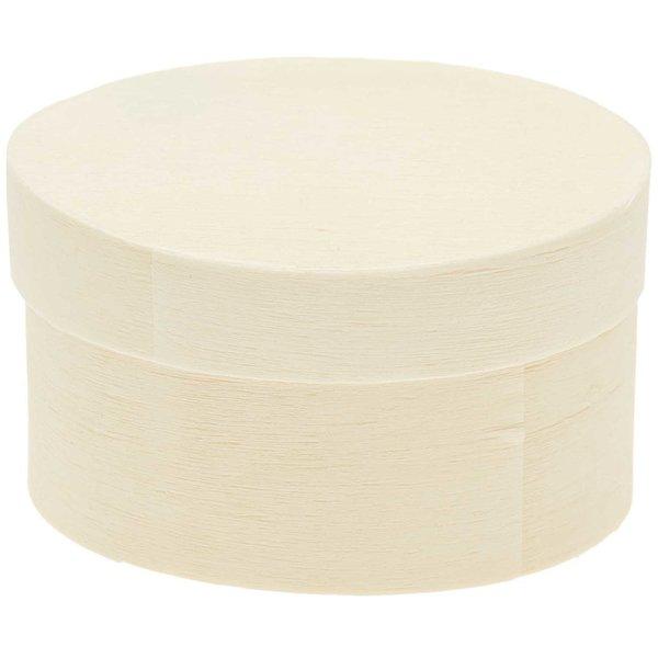 Rico Design Holzdöschen oval 4,5x6x3cm 6 Stück