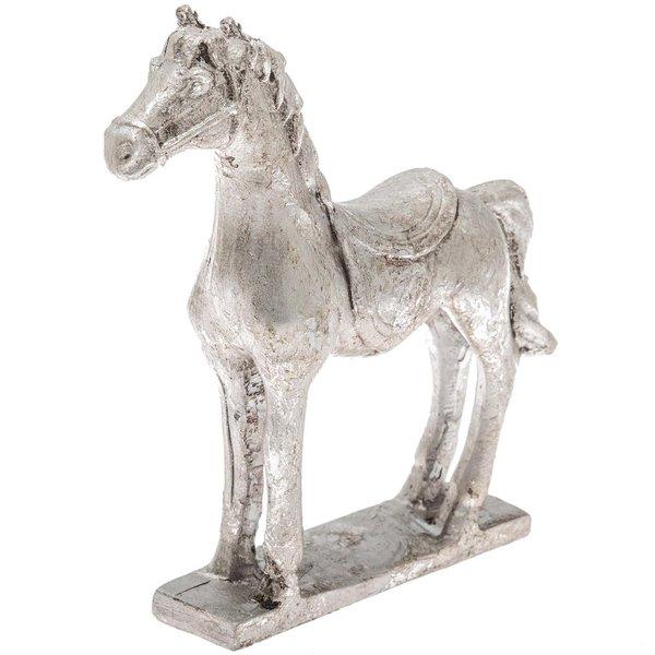 Deko-Pferd stehend chrom 12x11,5cm
