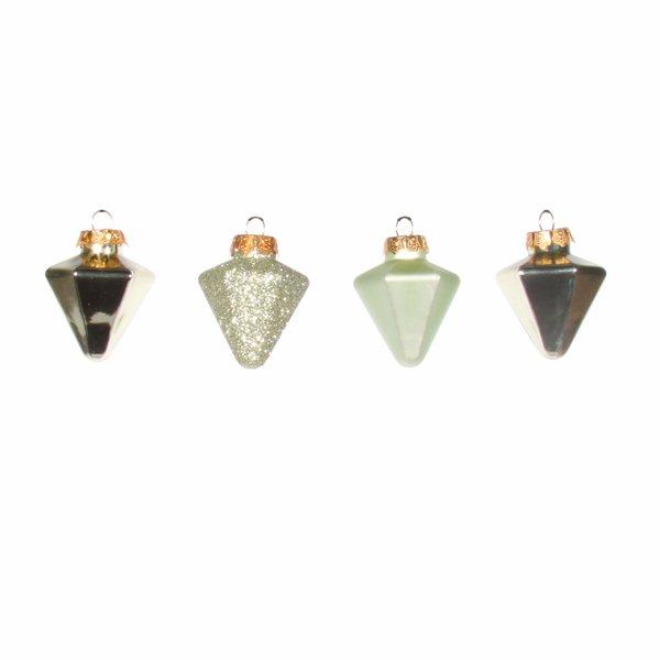 Baumschmuck Diamanten hellgrün 4 Stück