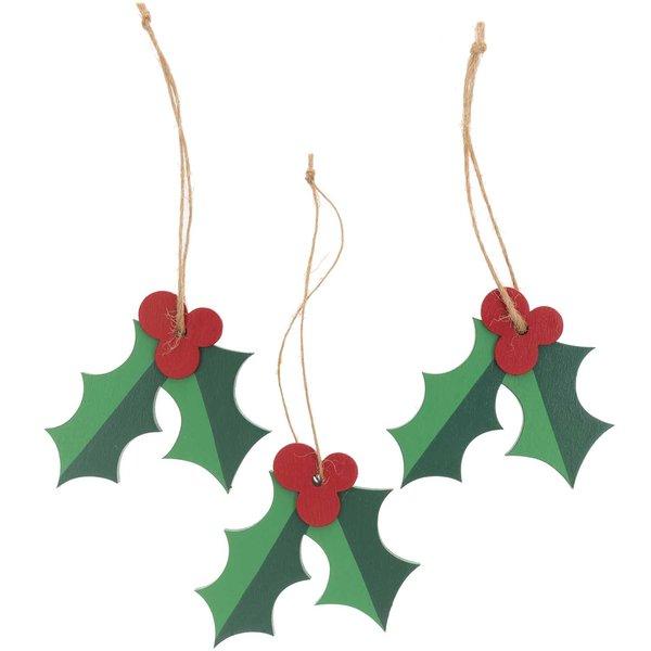 Ohhh! Lovely! Holzhänger Ilex grün-rot 3 Stück