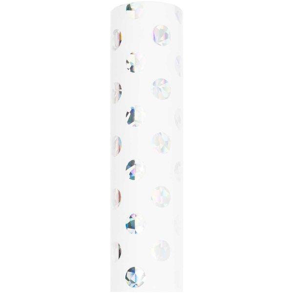 Paper Poetry Geschenkpapier Punkte weiß irisierend 70cm 2m