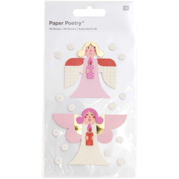 Paper Poetry 3D-Sticker Engel 1 Blatt