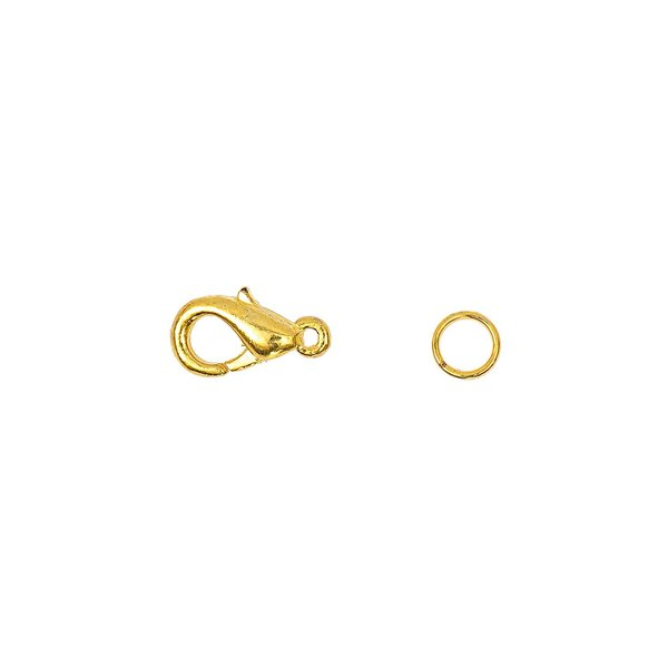 Jewellery Made by Me Karabiner mit 2 Federringen gold 12mm