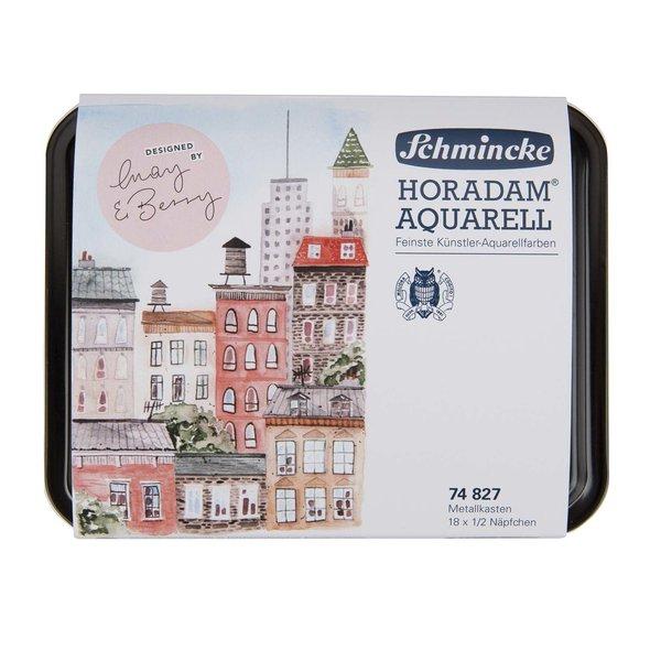 Schmincke Horadam Aquarellkasten 18x halbe Näpfe designed by May & Berry