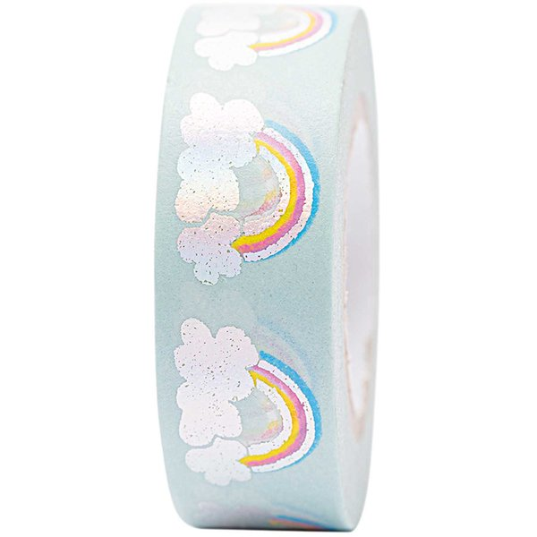 Paper Poetry Tape Regenbogen irisierend 15mm 10m Hot Foil