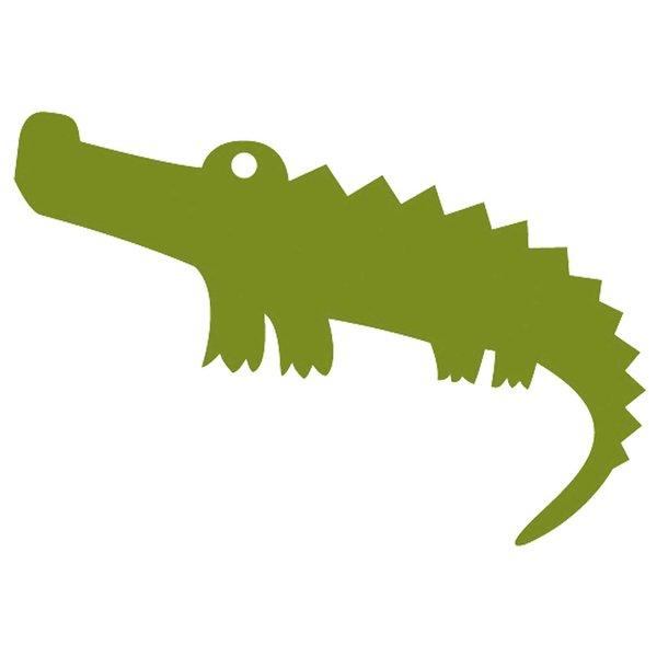 Rico Design Appliqué Krokodil grün klein 5x2,6cm