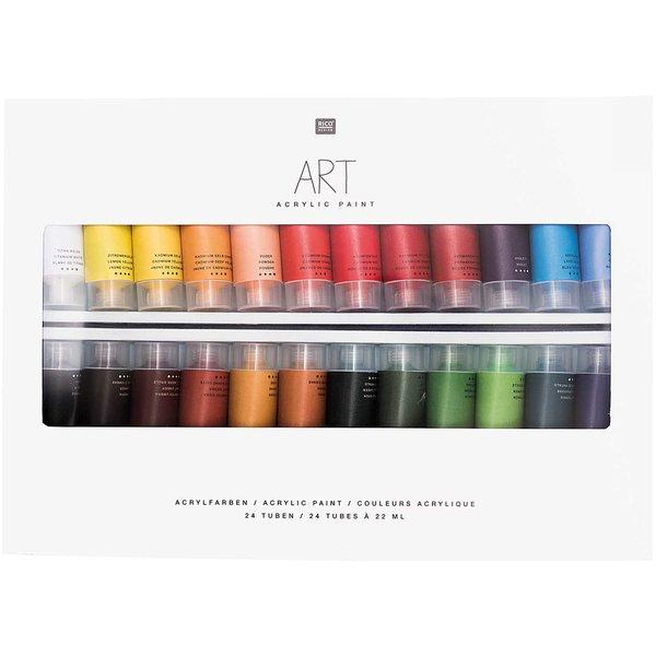 Rico Design ART Künstler Acrylfarben-Set Special Edition 24x22ml