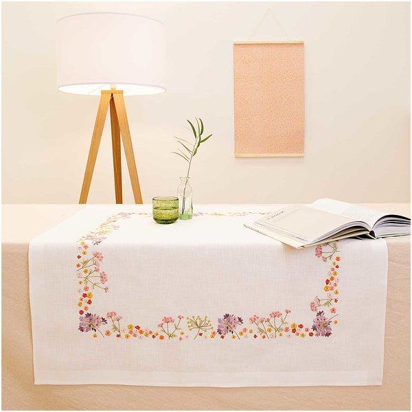 Rico Design Stickpackung Decke Herbstblumen 90x90cm