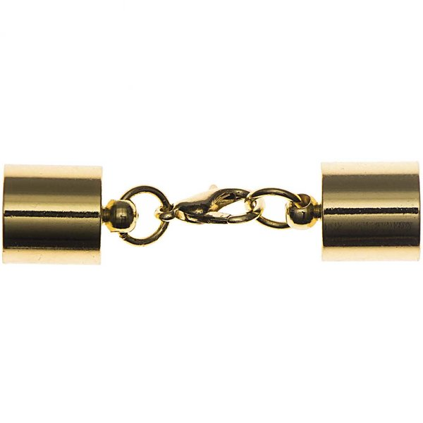 Jewellery Made by Me Karabiner mit Endkappen gold 11mm