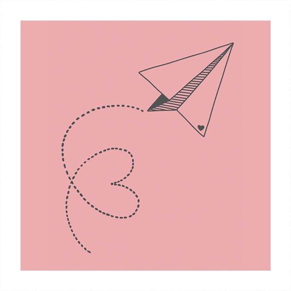 May&Berry Stempel Flieger rosa 35x45mm