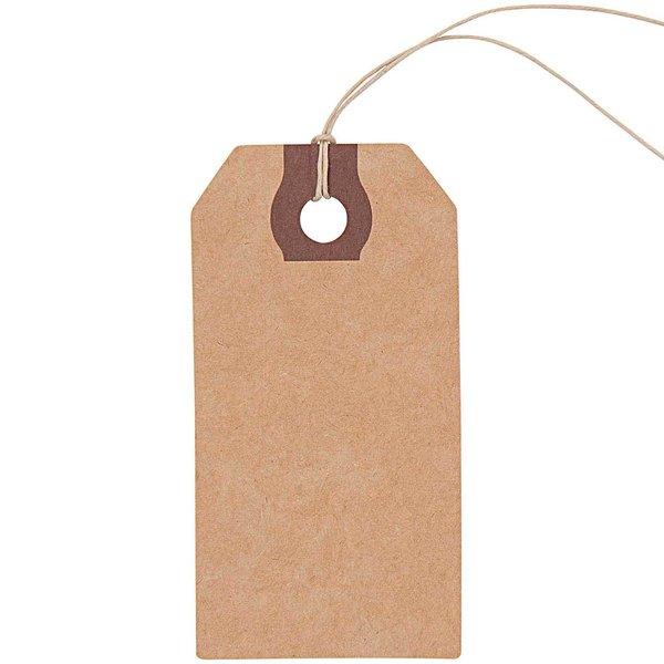 Paper Poetry Geschenkanhänger 9x4,5cm 9 Stück Kraftpapier