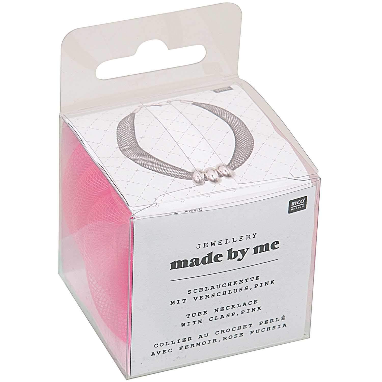 Glitzer Armband Schlauch Netz mit Magnet Verschluss SCHWARZ