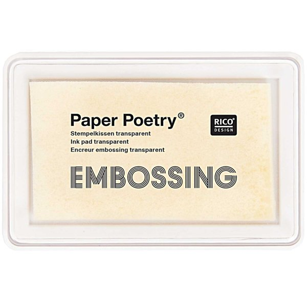 Paper Poetry Embossing Stempelkissen transparent