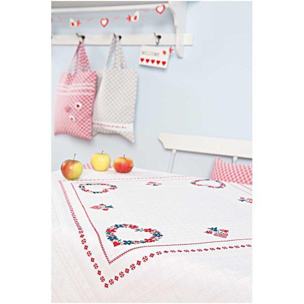 Rico Design Stickpackung Decke Blumenherz 92x92cm