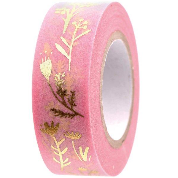 Paper Poetry Tape Bunny Hop Streublumen rosa 1,5cm 10m