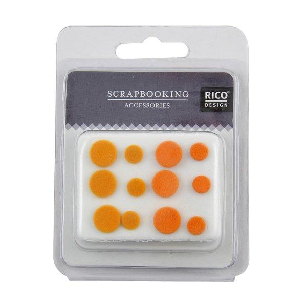 Rico Design Scrapbooking Nieten beflockt orange 12 Stück