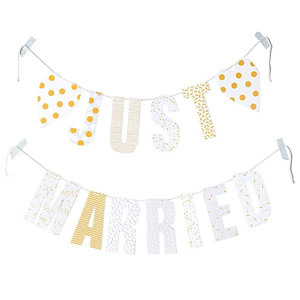 Paper Poetry Girlande Just Married 3m