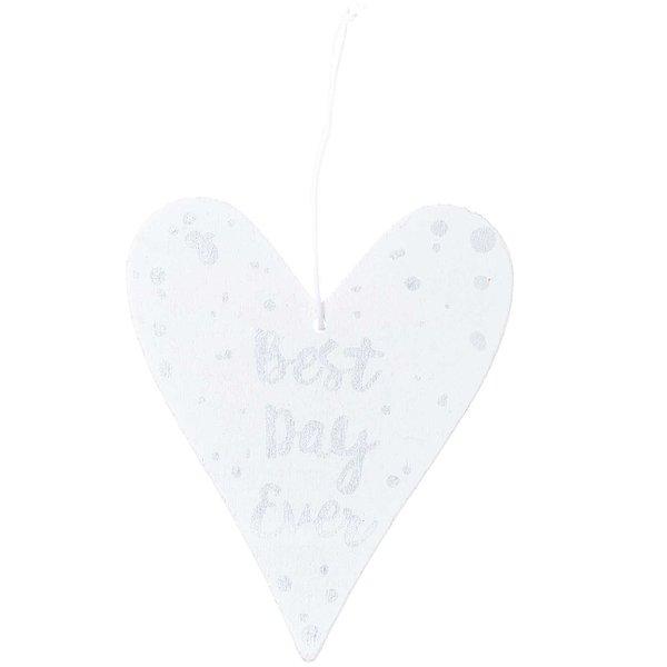 Ohhh! Lovely! Holzhänger Herz mit Spruch weiß-silber