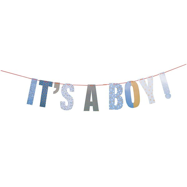 YEY! Let's Party Girlande It's a boy 3m