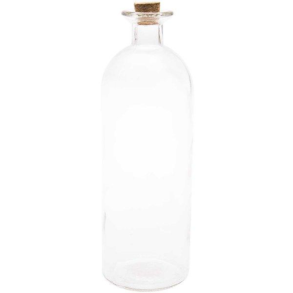 Glasflasche mit Korkverschluss 27x9cm