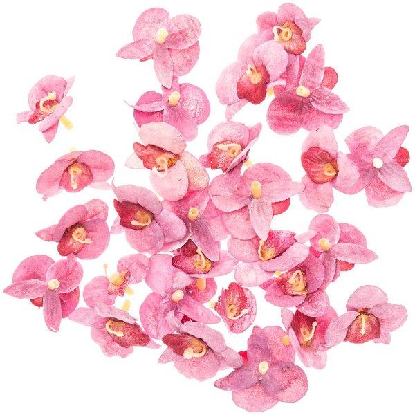 Orchideenblüten rosa 28 Stück