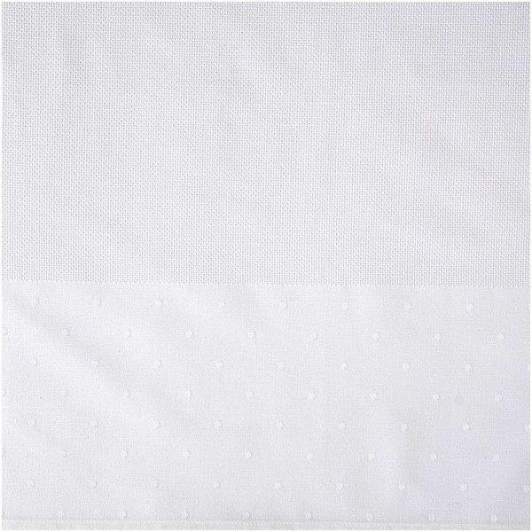 Rico Design Tischband weiß mit Punkte 29x155cm