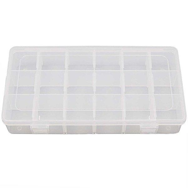 Rico Design Sortierbox mit 18 Fächern 23,5x12,8x4,3cm