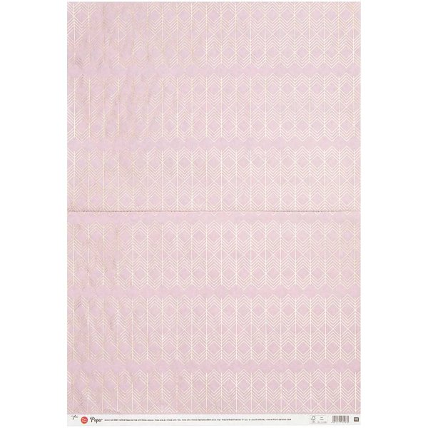 Paper Poetry Paper Patch Papier grafisch rosa-gold 30x42cm
