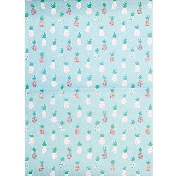 Rico Design SB Paper Patch Papier Ananas mint 30x42cm 3 Bogen