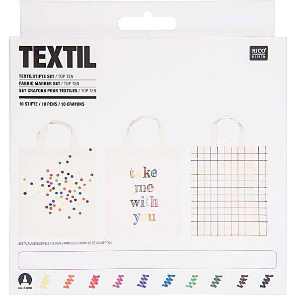 Rico Design Textilstifte basic 10 Stück