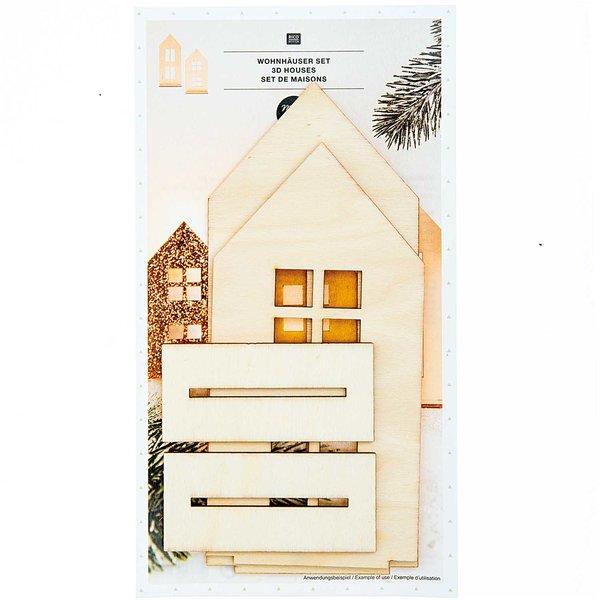 Made by Me Steckfiguren Wohnhäuser 2 Stück