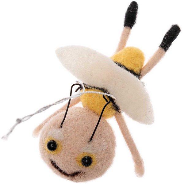 Ohhh! Lovely! Biene fliegend zum Hängen handgefilzt 10cm