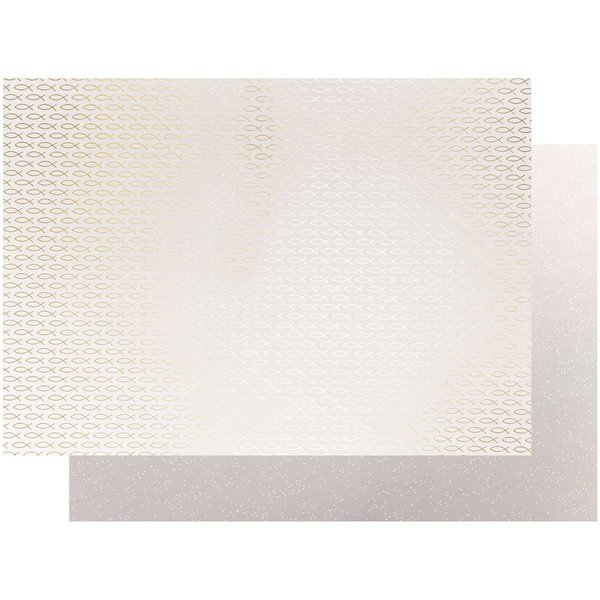 Paper Poetry Motivkarton Fische gold 50x70cm