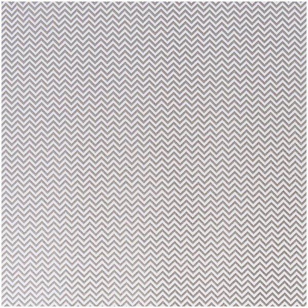 Rico Design Stoff Zickzack weiß-grau 50x140cm
