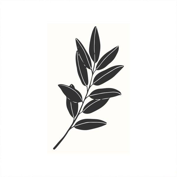 May&Berry Stempel Olivenzweig weiß 35x55mm