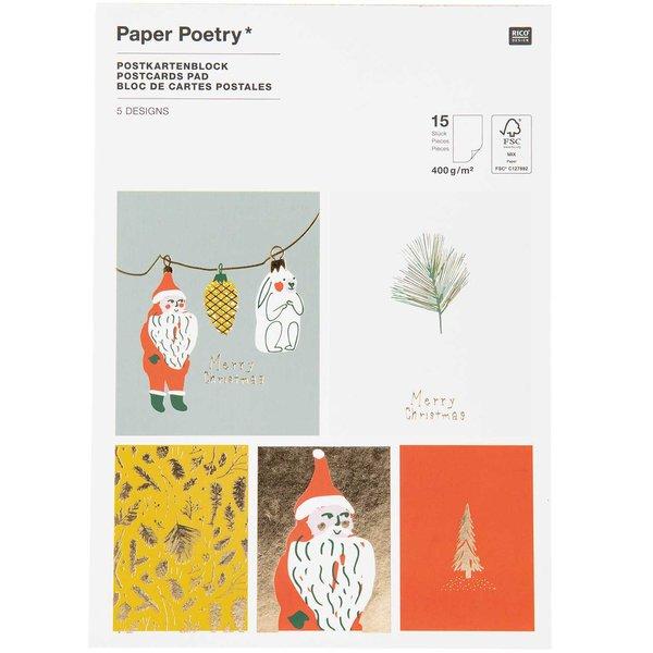 Paper Poetry Postkartenblock Nostalgic Christmas classic 12,5x17,6cm