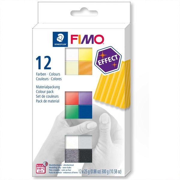 Staedtler FIMO effect 12 Halbblöcke je 25g