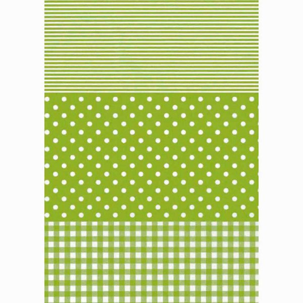 décopatch Papier Karo-Punkte grün 3 Bogen
