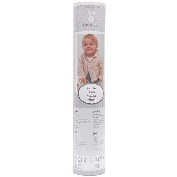 Rico Design Strickset Babyjacke beige 11teilig