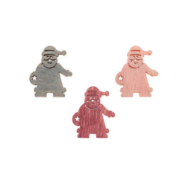 Weihnachtsmannstreu pink-rosa-grau 2cm 24 Stück