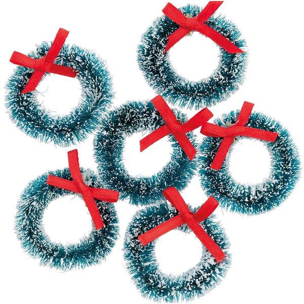 Ohhh! Lovely! Mini-Weihnachtskränze grün 4cm 6 Stück