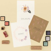 Anleitung Grußkarten mit floralen Motiven gestalten