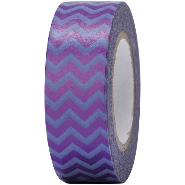 Paper Poetry Tape Zickzack lila 15mm 10m Hot Foil
