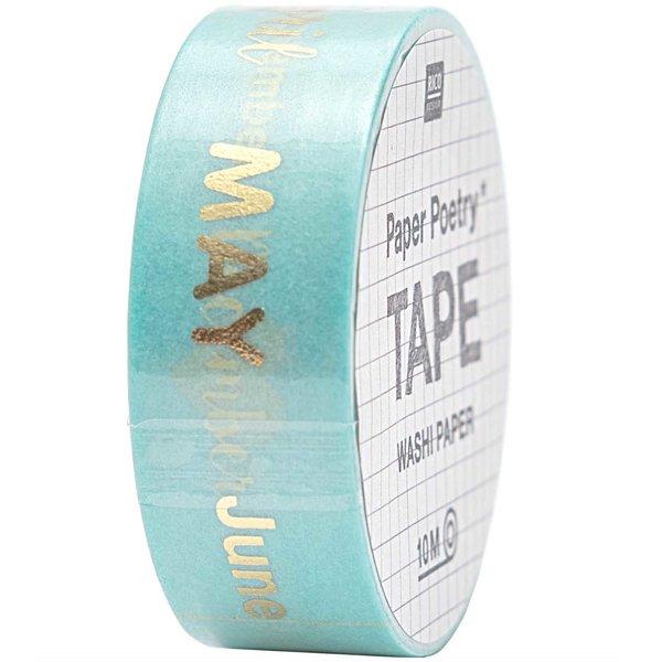 Paper Poetry Tape Monate 1,5cm 10m