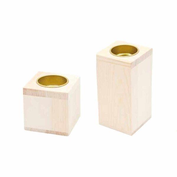 Rico Design Kerzenhalter aus Holz